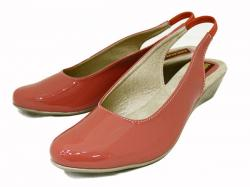 Peach Color Front Closed Ladies Shoes - (051)