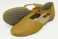 Fashionable Tan Flat Sandal For Ladies - (1870)