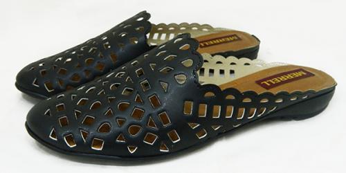Black Front Close Shoes For Ladies - (1882)
