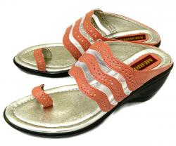 Stylish Peach Color Flat Sandal For Ladies - (1586)