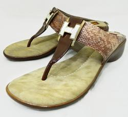 Cream Fashionable Ladies Party Wear Sandal - (3392)