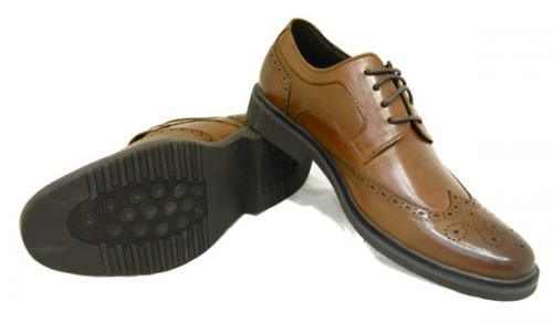 Black Stone Leather Shoes For Men - (7635-5)