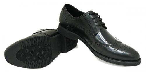 Black Stone Leather Shoes For Men - (268-1)