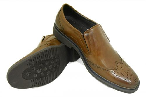 Brown Oxford Shoes For Men - (7635-5B)