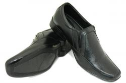 Black Horse Leather Shoes For Men - (1609)