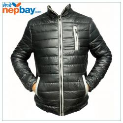 Black Down Jacket For Men - (TP-217)