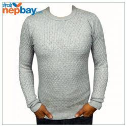 Grey Woolen Sweater For Men - (TP-227)
