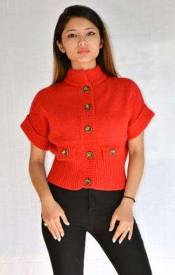 New Fashionable Red Sweater - (ARKO-005)