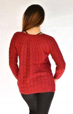 Maroon Crop Sweater - (ARKO-006)