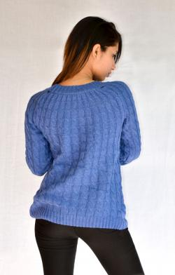 Blue Crop Sweater - (ARKO-007)