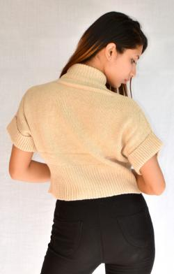 New Fashionable Cream Color Sweater For Ladies - (ARKO-008)