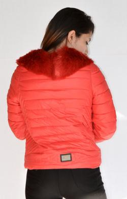 New Stylish Red Fur Jacket For Ladies - (ARKO-010)