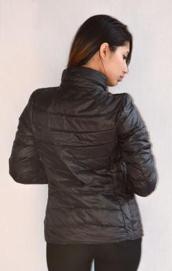 Black Ultra Down Jacket For Ladies - (ARKO-013)