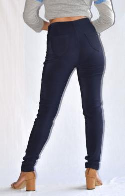 Blue Winter Pant With Fur Inside - (ARKO-015)