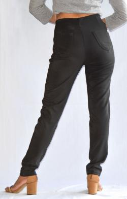 Black Winter Pant With Fur Inside - (ARKO-016)
