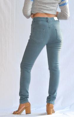 Buttoned Light Blue Fur Winter Pant - (ARKO-017)