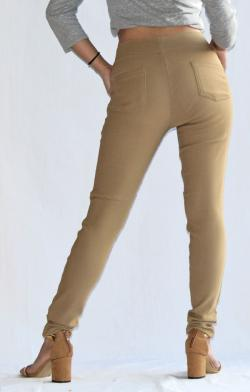 Light Brown Stretchable Fitting Pant - (ARKO-019)