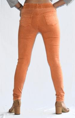 Orange Stretchable Fitting Pant - (ARKO-020)
