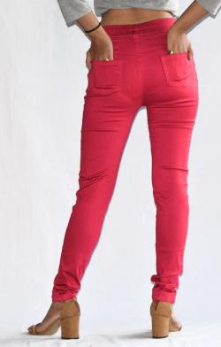 Pink Stretchable Fitting Pant - (ARKO-021)