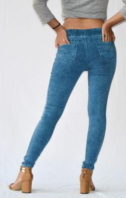 Spotted Blue Stretchable Fitting Pant - (ARKO-022)