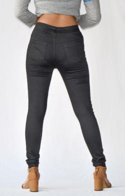 Black Stretchable Fitting Pant - (ARKO-023)