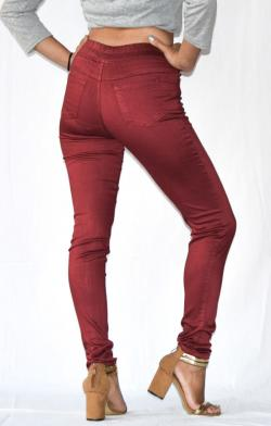Maroon Stretchable Fitting Pant - (ARKO-026)