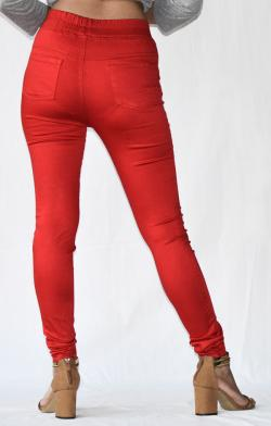 Red Stretchable Fitting Pant - (ARKO-025)
