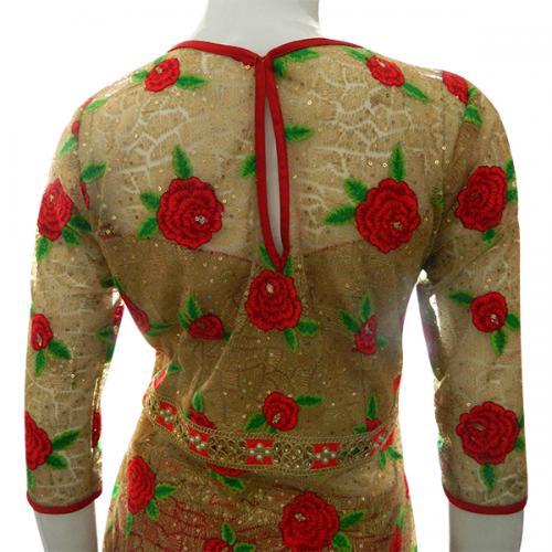 Long Floral Kurti With Long Skirt - (CN-003)