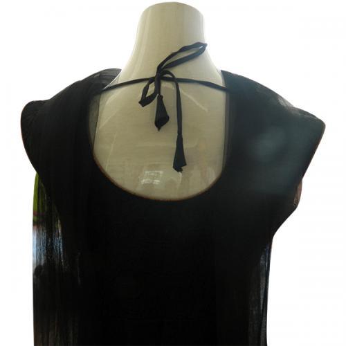 Ready Made Black Anarkali - (CN-006)