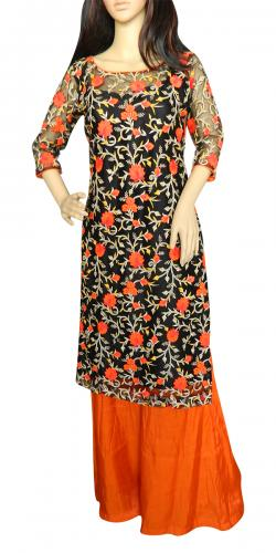 Floral Long Kurti With Plazo Pant - (CN-007)