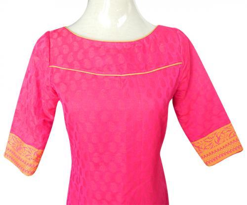 Pink Brocket Kurti - (CN-008)