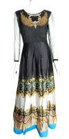 Mixed Color Gown Design Kurta Set - (CN-009)