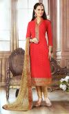 Red Kurta Salwar Kurta Set - Kurta Piece - (CN-019)