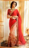 Net & Chiffon Mixed Party Wear Saree - (CN-026)