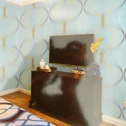 Living Walls Pattern - 3D Wallpaper - Per Roll - (LW-076)