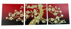 Living Walls 3D Floral Wall Plaques - (LW-095)