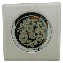 Living Walls - White Round Glass - (LW-130)