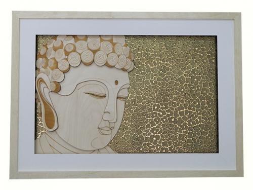 Living Walls - Hand Carved Buddha Frame - (LW-133)