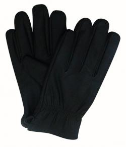 Dark Black Leather Gloves - (KALA-0085)