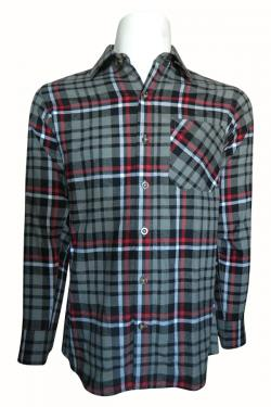 Luxury & Factory Woolen Check Shirt - (UB-004)