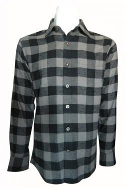 Luxury & Factory Woolen Check Shirt - (UB-005)