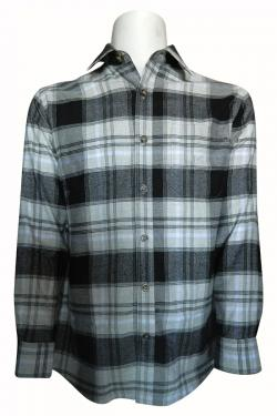 Luxury & Factory Woolen Check Shirt - (UB-006)