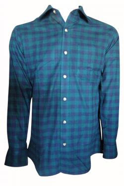 Luxury & Factory Woolen Check Shirt - (UB-007)