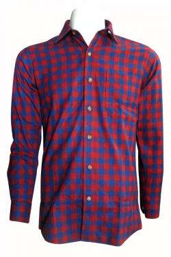 Luxury & Factory Woolen Check Shirt - (UB-008)