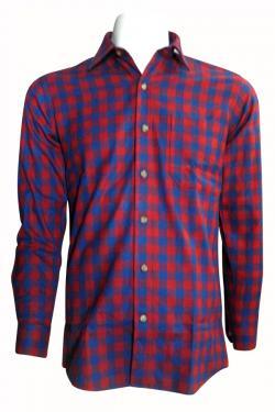 Luxury & Factory Woolen Check Shirt - (UB-008)
