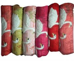Velvet Embroidered Duck Print Quilt - (TP-193)