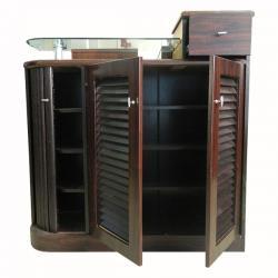 Wooden Shoe Rack - Glass On Top - (FL607-23)