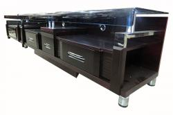 Wooden TV Rack With Glass - (FL604-12)