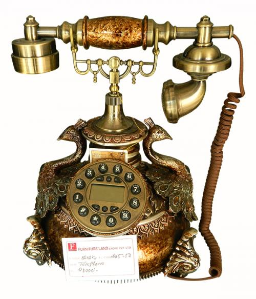 Peacock Designed Telephone Set - (FL205-52)