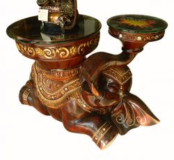 Ceramic Coffee Table - Elephant Sculped - (FL205-25)